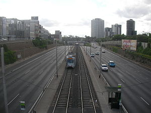 St Kilda Junction - Dandenong Road looking west toward St Kilda Junction