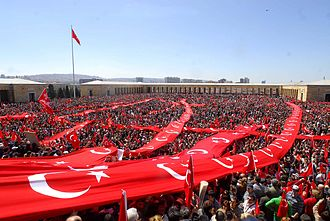 Secularism in Turkey - The Republic Protests took place in 2007 in support of the Kemalist reforms, particularly state secularism and democracy, against the perceived Islamization of Turkey under the ruling Justice and Development Party.