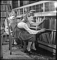 Public Library- the work of Leyton Public Library Service, Church Lane, Leytonstone, London, England, UK, September 1944 D22114.jpg