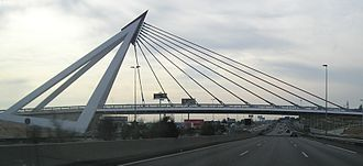 Las Rozas de Madrid - Bridge over A-6 autovia to A Coruña