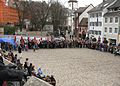 Pulse of Europe, Pro-Europa-Demo auf dem Augustinerplatz in Freiburg, La Ola.jpg