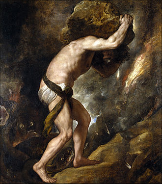 The Myth of Sisyphus - Sisyphus by Titian, 1549