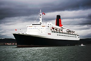 English: The Cunard Liner RMS Queen Elizabeth ...