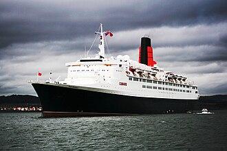 Passenger ship - An ocean liner, Queen Elizabeth 2