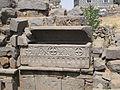 Qanawat, Seraya, sarcophagus in church.JPG