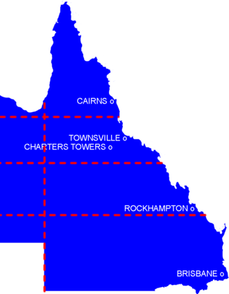 State of North Queensland -  Queensland divisions