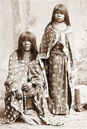 Quechan Indians, Mother & Daughter