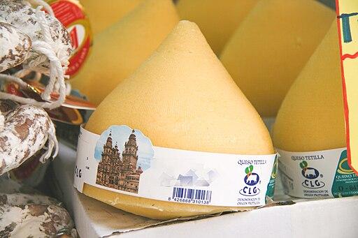 Queso tetilla-Mercado