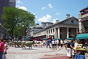 Quincy Market; Faneuil Hall can be seen behind, and South Market to left