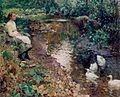 Rêverie près du ruisseau. Huile sur toile, 50 x 60 cm (par Evariste Carpentier).jpg