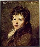 Porträt des jungen Schinkel (Johann Carl Rößler, 1803 in Rom) (Quelle: Wikimedia)
