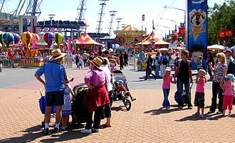 Sydney Showground (Olympic Park) - Arriving at the Showground during the Royal Easter Show