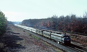 Richmond, Fredericksburg and Potomac Railroad - Image: RF&P 1014 with Train 2, The Flordia Special, north of Ashland, VA on January 12, 1969 (25463676785)