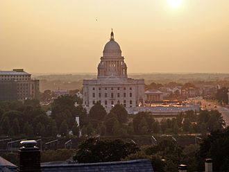 Index of Rhode Island-related articles - The Rhode Island State House in Providence