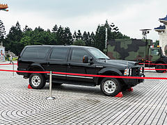Ford Excursion Armored Car In Use By Republic Of China Military Police Taiwan