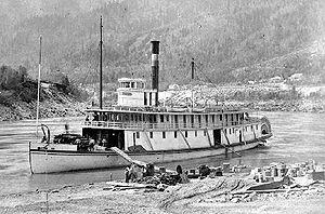R.P. Rithet (sternwheeler) - Image: R P Rithet (sternwheeler) at Yale on Fraser River 1882 c 03819