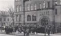 Racine High School building meeting in 1915 detail, (Kipikawi Yearbook 1915 from Racine High School, Racine, Wisconsin, USA (page 42 crop).jpg