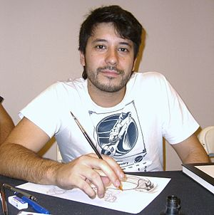 Rafael Grampá - Grampa at the November 2008 Big Apple Convention in Manhattan.