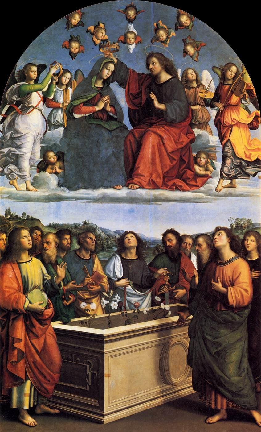 Raffaello Sanzio - The Crowning of the Virgin (Oddi Altarpiece) - WGA18609