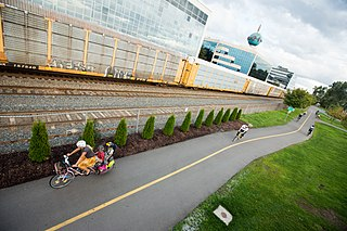 bikeway separated from motorized traffic and dedicated to cycling or shared with pedestrians or other non-motorized users