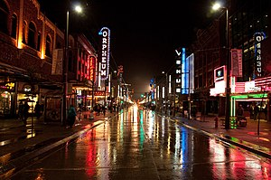 Rainy Tuesday Night on Granville, Vancouver, B...