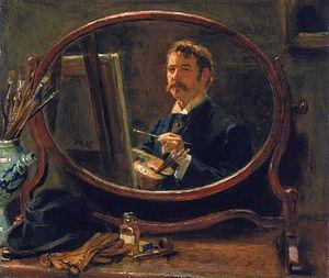 Ralph Hedley - Self portrait (1895)