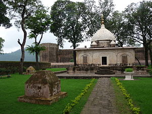 Ramnagar, Udhampur - Ramnagar Fort behind the small mausoleum that commemorates the spot on which Raja Suchet Singh's widow performed sati