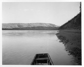 Rampart Dam - The northern portion of Rampart Canyon is seen in 1949.