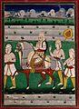 Rana Ranjit Singh on a horse with three attendants Wellcome V0045712.jpg