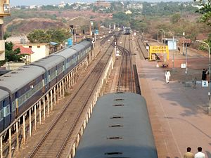 Ratnagiri railway station - View of platforms