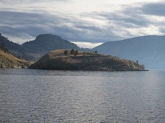 Rattlesnake Island (Okanagan Lake) - Image: Rattlesnake Island from the Northwest