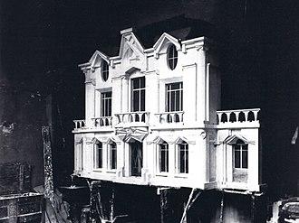La Maison Cubiste - Raymond Duchamp-Villon, original model of the architectural facade (destroyed)
