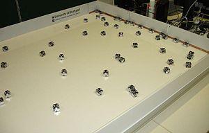 Swarm robotics - Swarm of open-source Jasmine micro-robots recharging themselves