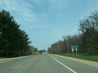 Redgranite, Wisconsin - Image: Red Granite Wisconsin DOT Sign WIS21