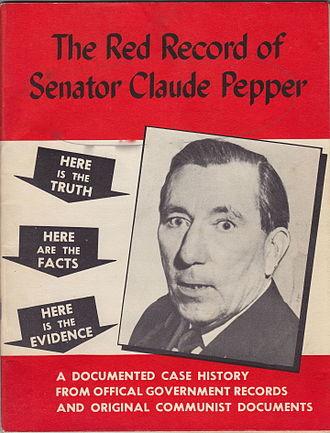 1950 United States Senate election in California - The Red Record of Senator Claude Pepper