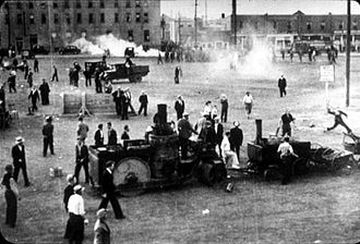 On-to-Ottawa Trek - Scene from the Regina Riot