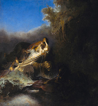 Claudian - The Abduction of Proserpina (ca. 1631) by Rembrandt was influenced by Claudian's De raptu Proserpinae