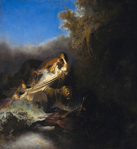 Rembrandt's Abduction of Proserpina (ca. 1631)