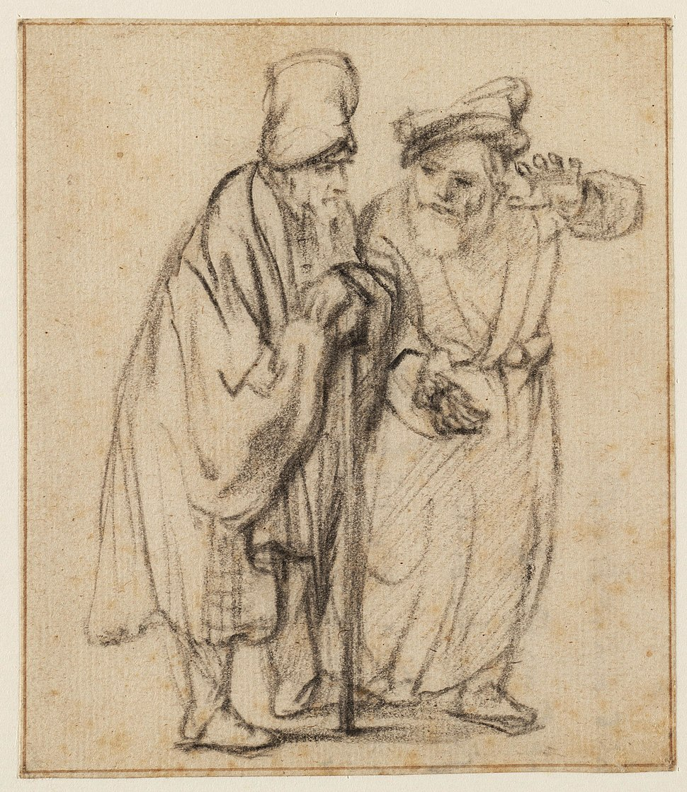 Rembrandt Two Jews in Discussion, Walking