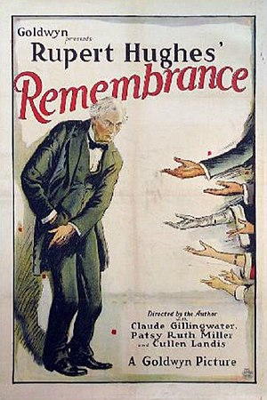 Remembrance (1922 film) - Image: Remembrance poster