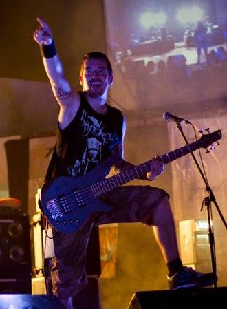 Textures (band) - Bassist Remko Tielemans live in New Delhi, India