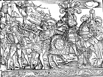 Nancy, France - Engraving depicting the capture of Nancy through Duke René II of Lorraine in 1477