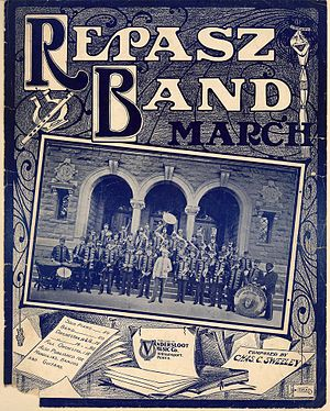 "American march music - ""Repasz Band March"" by Chas. C. Sweeley."