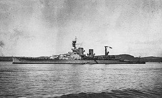 HMS Repulse (1916) - Repulse, circa 1916–17, after post-trials alterations