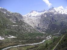 Prameň - ľadovec rhône