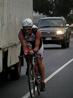 Richard Ussher beim Ironman New Zealand, 2009