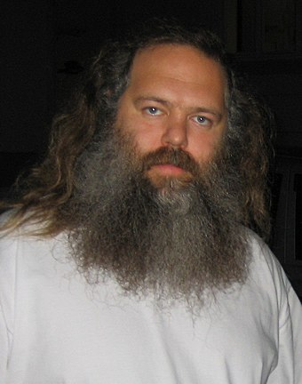 Producer Rick Rubin helped create rap rock in the 1980s with hip hop groups such as the Beastie Boys and Run-D.M.C. RickRubinSept09.jpg
