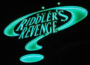 The Riddler's Revenge - Image: Riddler's Revenge signage