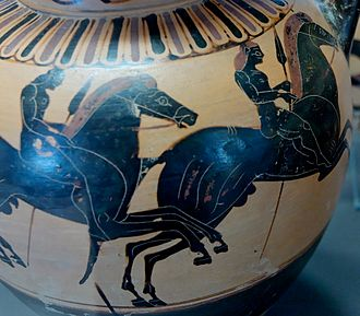 Pseudo-Chalkidian vase painting - Runner on the back of the same amphora.