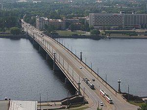 Akmens tilts - Image: Riga akmens tilts stone bridge